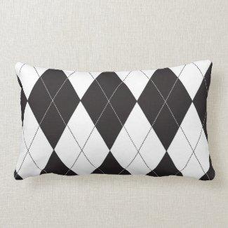 Black and White Argyle Throw Pillows