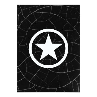 Black and White Army Star Card