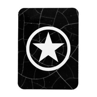 Black and White Army Star Magnet