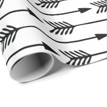 Black and White Arrows Pattern Wrapping Paper