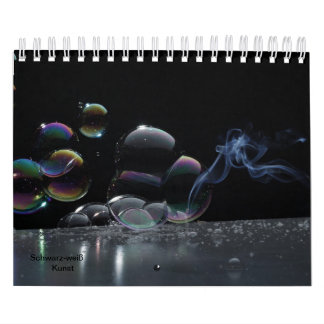 Black-and-white art calendar