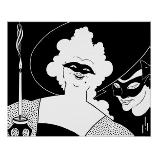 Black and white art: carnival poster