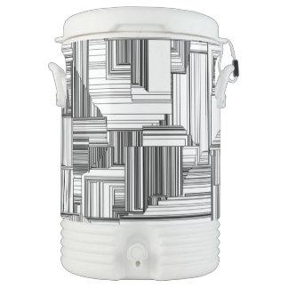 Black and White Art Deco Beverage Cooler