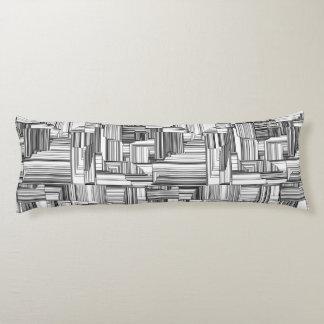 Black and White Art Deco Body Pillow