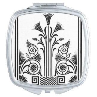 Black and White Art Deco Compact Mirror