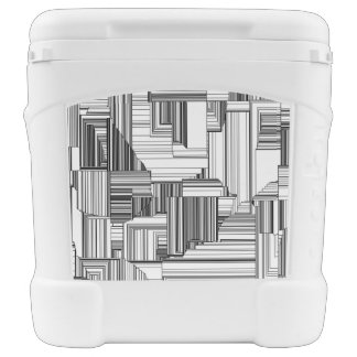 Black and White Art Deco Cooler