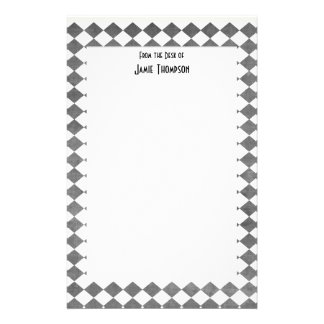 Black and White Art Deco Custom Stationery