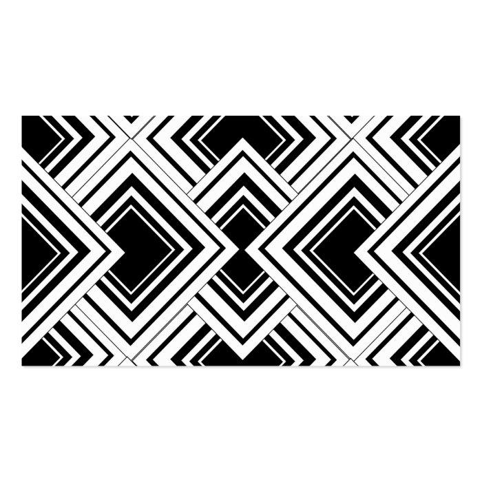 Black And White Art Deco Design Business Card : Zazzle