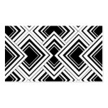 Black And White Art Deco Design Business Card Template