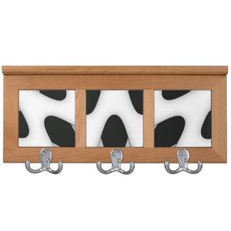 Black and White Art Deco Design Coat Rack