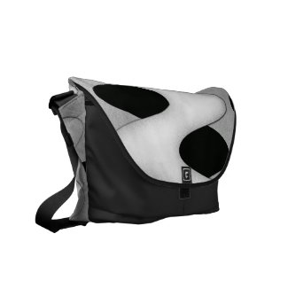 Black and White Art Deco Design Courier Bag