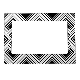Black And White Art Deco Design Magnetic Photo Frame