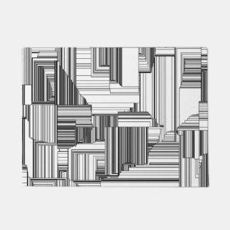 Black and White Art Deco Doormat