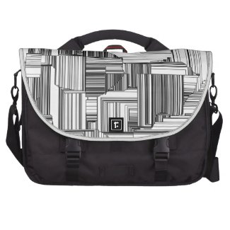 Black and White Art Deco Laptop Bag