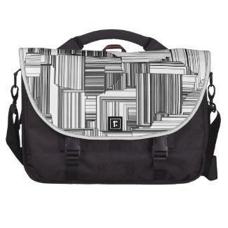 Black and White Art Deco Laptop Bag