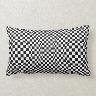 Black and White Art Deco Modern Lumbar Pillow