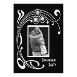 "Black and White Art Deco Party 5"" X 7"" Invitation Card"