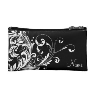 Black and White Art Deco Personalized Clutch