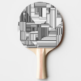 Black and White Art Deco Ping Pong Paddle