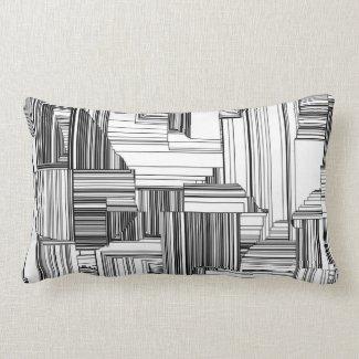 Black and White Art Deco Throw Pillow