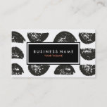 Black and White Artistic Drawing Business Card