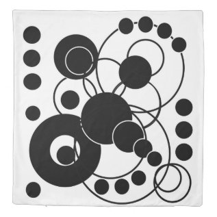 Black And White Artsy Abstract Duvet Cover at Zazzle