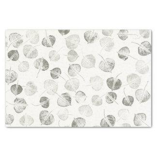 """Black and White Aspen Leaf Prints 10"""" X 15"""" Tissue Paper"""