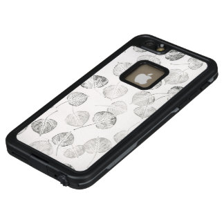 Black and White Aspen Leaf Prints LifeProof FRĒ iPhone 6/6s Plus Case