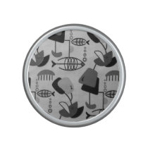 Black and White Atomic Pattern Bumpster Speaker