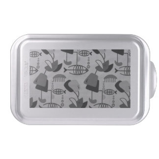 Black and White Atomic Pattern Cake Pan