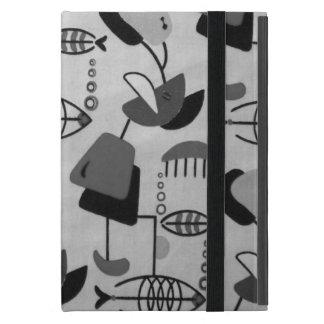 Black and White Atomic Pattern iPad Mini Case