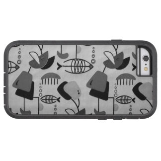 Black and White Atomic Pattern iPhone 6 Case
