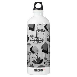 Black and White Atomic Pattern SIGG Water Bottle