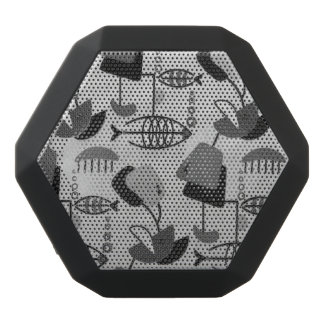 Black and White Atomic Pattern Speaker