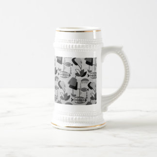 Black and White Atomic Pattern Stein