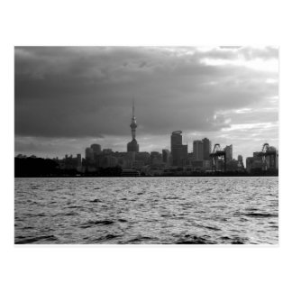 Black and White Auckland Skyline Postcard