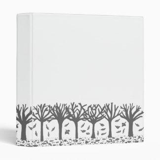 Black and white Autumn trees Vinyl Binder