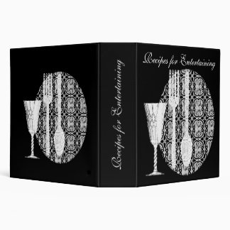 Black and White Avery Binder for Recipes