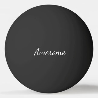 Black and White Awesome Personalized Ping-Pong Ball