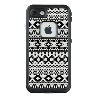 Black and White Aztec geometric vector pattern LifeProof FRĒ iPhone 7 Case