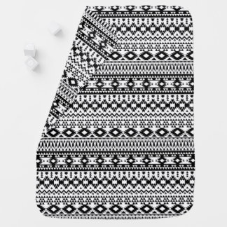 Black and White Aztec geometric vector pattern Swaddle Blanket