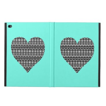 Aztec Themed Black and White Aztec Heart Powis iPad Air 2 Case