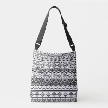 Aztec Themed Black and White Aztec Pattern Bag