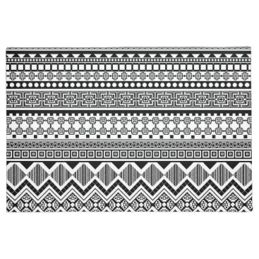 Aztec Themed black and white Aztec pattern Doormat