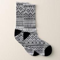 Black and white Aztec pattern Socks