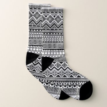 Aztec Themed Black and white Aztec pattern Socks