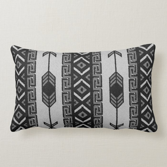 Black And White Aztec Pattern Southwest Tribal Lumbar