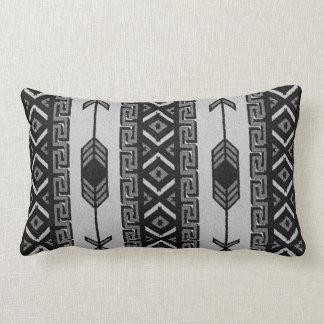 Black And White Aztec Pattern Southwest Tribal Throw Pillow