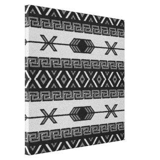 Black And White Aztec Pattern Southwest Wall Art