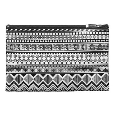 Aztec Themed black and white Aztec pattern Travel Accessory Bag